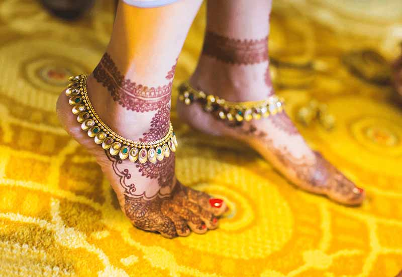 Bridal Anklets - wedding accessory list