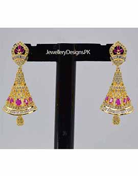 Beautiful One Carat Gold Plated Earrings